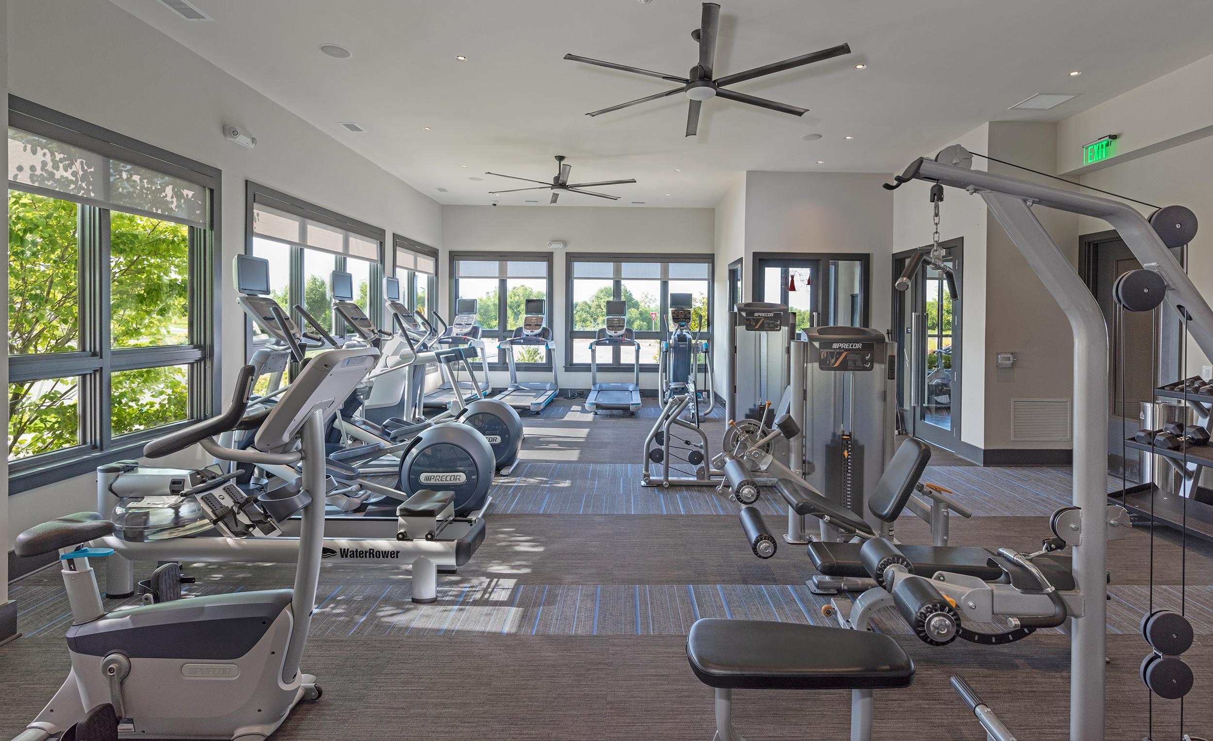 Shot of luxury fitness center